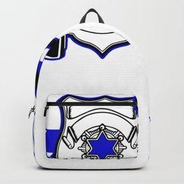 Love Police Then Blue Line Law Enforcement Backpack
