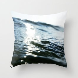 The Shimmering Swell Throw Pillow