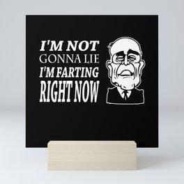 Im Not Gonna Lie Im Farting Rudy Giuliani Mini Art Print