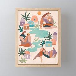 Women of the oasis Framed Mini Art Print