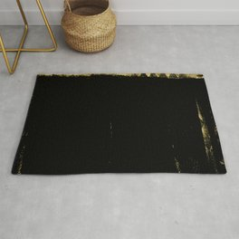 Black and Gold grunge modern abstract background I Rug