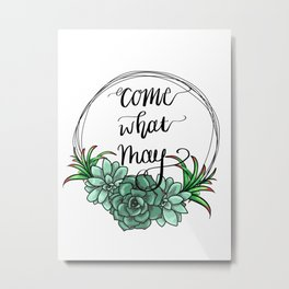 May succulents Metal Print