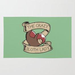 Crazy Sloth Lady Tattoo Rug