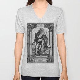 Saint Bartholomew Antique Engraving Unisex V-Neck