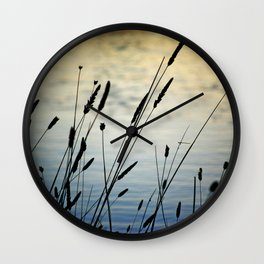 Reeds by the Water Wall Clock