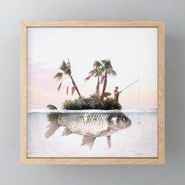 Something Fishy Framed Mini Art Print
