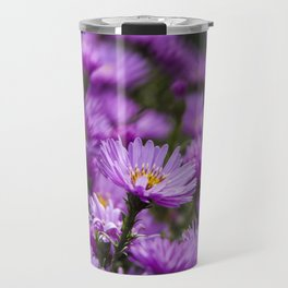 Closeup of beautiful purple flowers Travel Mug