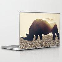 rhino Laptop & iPad Skins featuring Rhino by Yaroslav Greb