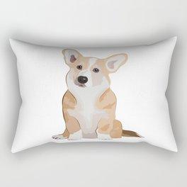 Corgi Waiting Rectangular Pillow