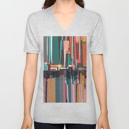 Abstract Composition 639 Unisex V-Neck
