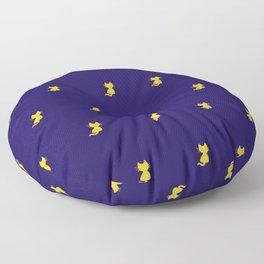 Yellow Cat Pattern - Digital illustration Floor Pillow
