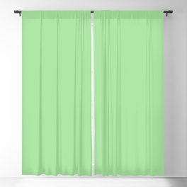 From The Crayon Box – Granny Smith Apple Green - Pastel Green Solid Color Blackout Curtain