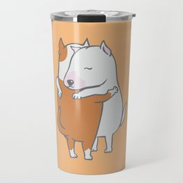 Bull Terrier Hugs Travel Mug