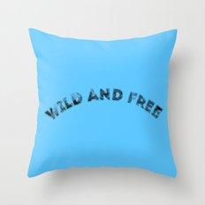 Wild & Free Throw Pillow