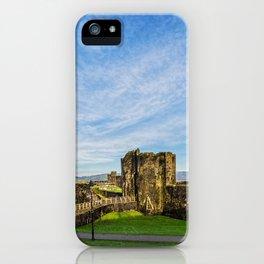 Caerphill Castle Panorama iPhone Case