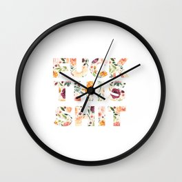 Flowery Language: Fuck This Shit Wall Clock