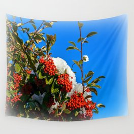 Snow Berries Wall Tapestry