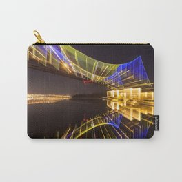 Footbridge in Kiev at night. abstract shot Carry-All Pouch