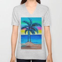 Its Cali Palms Unisex V-Neck
