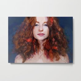 The Woman With The Red Hair Metal Print