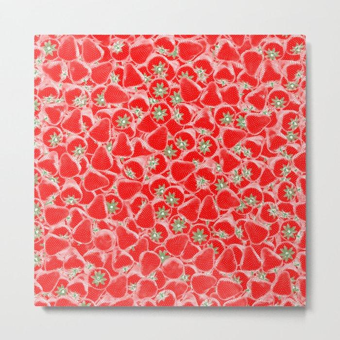 Strawberry Summer Metal Print