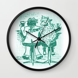 The Baa Baa Bar Wall Clock