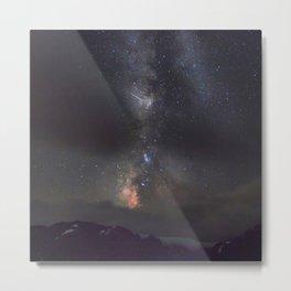 Watercolor Nightscape, Trail Ridge Road 04, RMNP, Colorado Metal Print