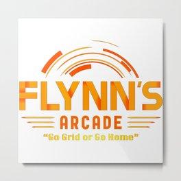 Flynn's arcade logo Metal Print