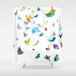Chickens! Shower Curtain