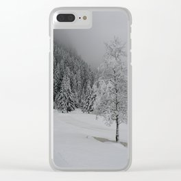 Winter Serenity Clear iPhone Case