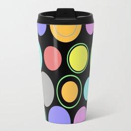 Retro Spots - Pastel Coloured Spots And Rings Travel Mug