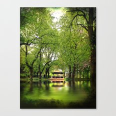 Forest Flood With Bandstand Canvas Print