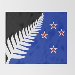 Proposed new national flag design for New Zealand Throw Blanket