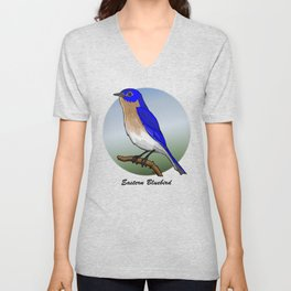 EASTERN BLUEBIRD Unisex V-Neck
