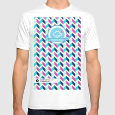 SocialCloud Pattern Mens Fitted Tee White SMALL