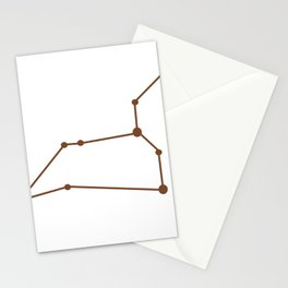 Leo (Brown & White) Stationery Cards