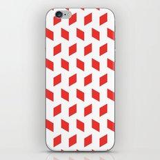 rhombus bomb in poppy red iPhone & iPod Skin