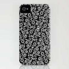black and white swirls iPhone (4, 4s) Slim Case