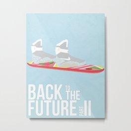 Back to the Future II Metal Print