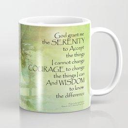 Serenity Prayer Trees, Water, Bridge Coffee Mug