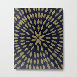 Mandala Flower #1 #gold #drawing #decor #art #society6 Metal Print