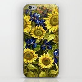 Sunflowers & Blue Irises by Vincent van Gogh iPhone Skin