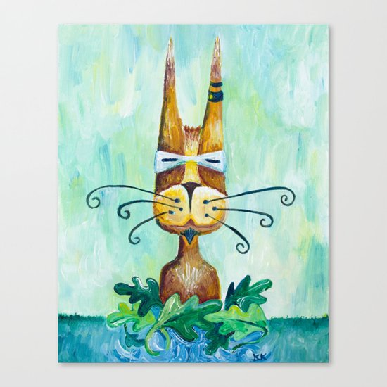 Roofus Whiskers The Cat Canvas Print