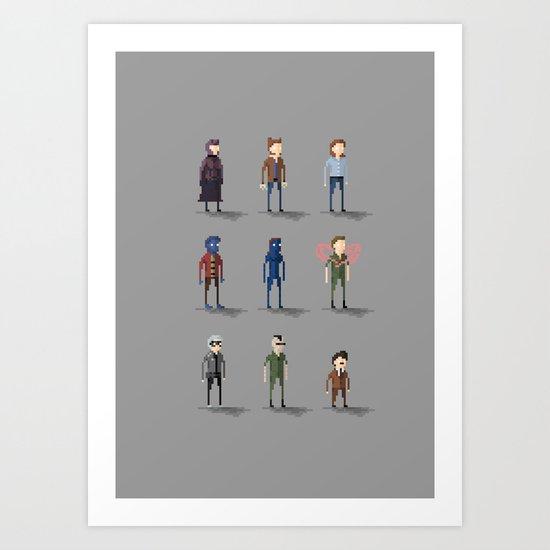 Xmen Pixels: Days of Future PAST Art Print
