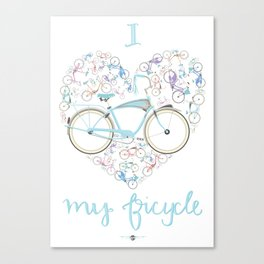 I Love my Bicycle Canvas Print