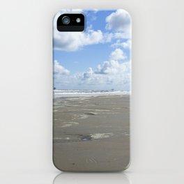 Cloudy seascape panorama iPhone Case
