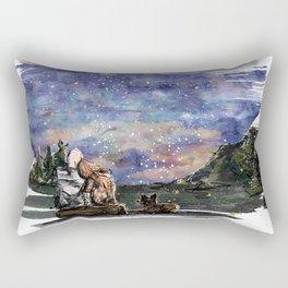 Love, sky and mountains Rectangular Pillow