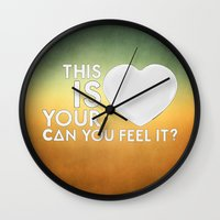 laura palmer Wall Clocks featuring Bastille - Laura Palmer #4 (This Is Your Heart, Can You Feel It?) by Thafrayer