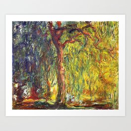 Claude Monet - Weeping Willow - Digital Remastered Edition Art Print