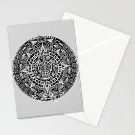 Mayan Calendar // Light Grey Stationery Cards